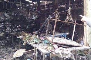Thông tin ban đầu về vụ cháy chợ Đề Thám ở Thái Bình