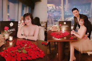 Kỷ niệm 1 năm yêu nhau, ông xã Âu Hà My 'chơi lớn' tổ chức tiệc lãng mạn cùng quà 'khủng' tặng vợ
