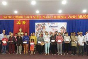 BIDV Phú Mỹ: Hơn 260 triệu đồng tặng quà Tết cho hộ nghèo, trẻ mồ côi