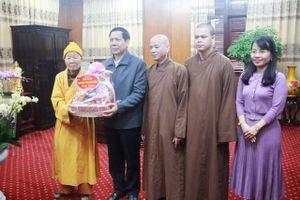 Phật giáo Thái Bình chúc Tết lãnh đạo tỉnh