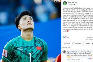 Tiến Dũng viết 'tâm thư' sau khi U23 Việt Nam chia tay VCK U23 châu Á