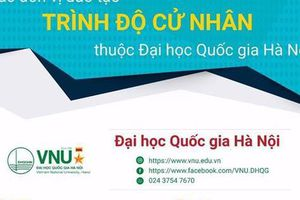 Năm 2020, Đại học Quốc gia Hà Nội tuyển sinh 10.000 chỉ tiêu đào tạo đại học chính quy