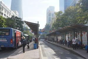 Cấm ô tô lưu thông phục vụ thi công bãi trung chuyển xe buýt