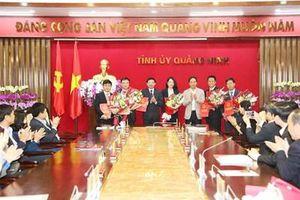 Quảng Ninh công bố và trao các quyết định về công tác cán bộ