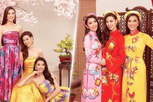 Khánh Vân - Thúy Vân - Kim Duyên tung bộ ảnh xuân: Diện váy hoa đẹp ngẩn ngơ, áo dài càng rực rỡ