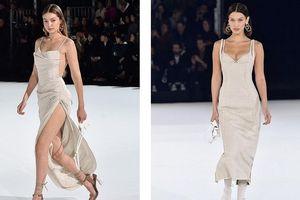 Gigi Hadid diện váy xẻ sâu khoe chân dài miên man, em gái Bella lộ nội y
