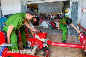 Huyện Long Thành: Làm tốt công tác phòng cháy ở các chợ
