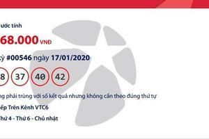 Kết quả xổ số Vietlott Mega 6/45 tối ngày 19/1/2020 mới nhất: Hơn 23 tỉ đồng tìm người may mắn