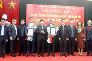 Trao quyết định bổ nhiệm Giám đốc, Phó Giám đốc Sở Khoa học & Công nghệ Hà Nội