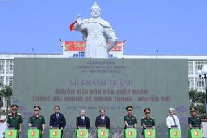 Khánh thành khuôn viên văn hóa quân nhân, Tượng đài Hoàng đế Quang Trung - Nguyễn Huệ