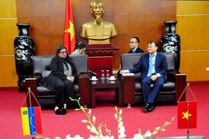 Thứ trưởng Đỗ Thắng Hải tiếp Đại sứ đặc mệnh toàn quyền nước Cộng hòa Venezuela tại Việt Nam