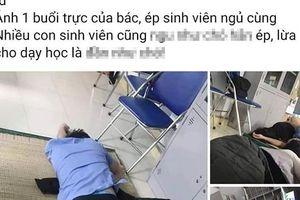 Xác minh thông tin bác sĩ 'ôm sinh viên ngủ trong ca trực' tại bệnh viện tỉnh