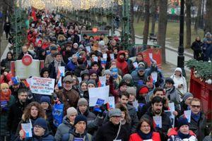 Hơn 1000 người Nga xuống đường biểu tình phản đối Tổng thống Putin