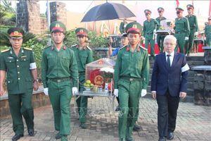 Bình Phước tổ chức truy điệu và an táng 27 hài cốt liệt sĩ