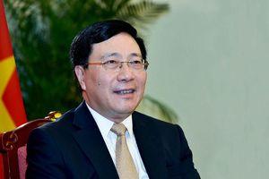 Phó Thủ tướng Phạm Bình Minh trả lời báo chí về vai trò kép của Việt Nam năm 2020