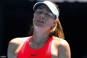 Sharapova thua sốc ngay ở vòng 1 Úc mở rộng
