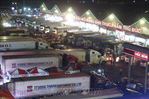 Thành phố Hồ Chí Minh: Hàng Tết về chợ đầu mối Thủ Đức tăng hơn 40%