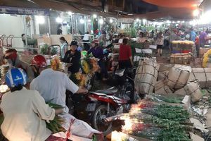 Nhộn nhịp mua sắm hoa tươi trong ngày giáp Tết tại TP Hồ Chí Minh