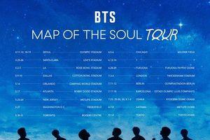 Chưa phát hành album, BTS đã công bố địa điểm và thời gian tổ chức Tour diễn mới