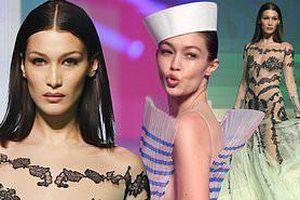 'Nhức mắt' ngắm chị em Gigi, Bella Hadid mặc xuyên thấu lộ nội y