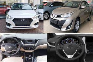 So sánh Toyota Vios 1.5E MT 2020 với Hyudai Accent 1.4MT Base: Chọn xe giá rẻ nào?
