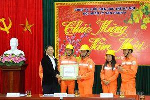 Bộ trưởng Bộ Công Thương chúc tết Trung tâm Điều độ HTĐ Quốc gia và trạm 110 kV Thống Nhất