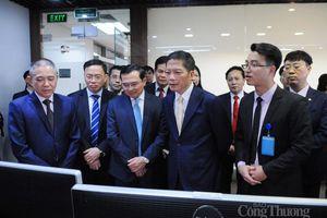 Bộ trưởng Trần Tuấn Anh chúc tết Trung tâm Điều độ hệ thống điện quốc gia và trạm 110 kV Thống Nhất