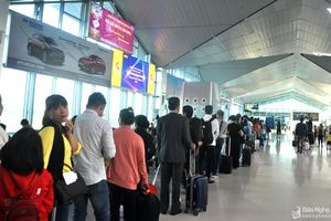 Hành khách qua Cảng hàng không Vinh tăng mạnh dịp Tết Nguyên đán