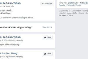 Cảnh báo các trang giả mạo Cục CSGT trên Facebook