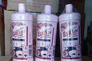 Tịch thu tiêu hủy 845 chai nước tẩy toilet nhãn hiệu Okay pink
