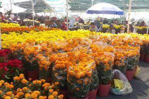 Chợ hoa Xuân Mỹ Tho ế ẩm chiều 30 Tết