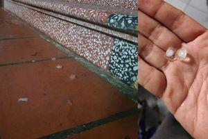 Mưa đá xuất hiện trong sáng mồng 1 Tết ở Nghệ An