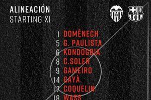 Messi tịt ngòi, Barca phơi áo trước Valencia