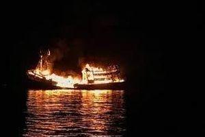 Cà Mau: Nguyên nhân 3 tàu cá bốc cháy trong đêm 29 Tết