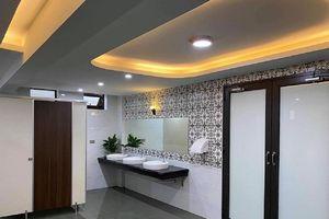 Nhà vệ sinh 'trường người ta' xịn xò, đẹp mắt như khách sạn hạng sang khiến giới học trò mê mẩn