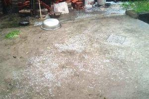 Mưa đá cực lớn xuất hiện tại Thanh Hóa, Phú Thọ