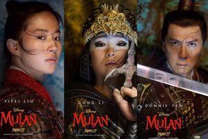 'Mulan' tung poster nhân vật chính: Ai cũng ngầu, nhưng thần thái nhất không phải Lưu Diệc Phi!