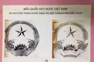 Người vẽ mẫu Quốc huy Việt Nam