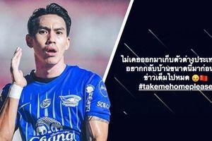 Ngôi sao bóng đá Thái Lan 'cầu xin' thoát khỏi Trung Quốc vì sợ virus corona