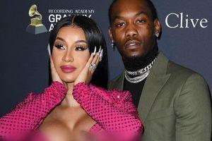Chồng Cardi B liên tục đụng chạm vòng một của vợ tại Grammy 2020