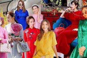 Mỹ nhân Việt xúng xính áo dài ngày Tết, tỏa sắc hút hồn dịp khai xuân