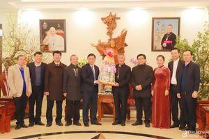 Bí thư Tỉnh ủy, Chủ tịch UBND tỉnh thăm, chúc Tết một số tổ chức tôn giáo trên địa bàn tỉnh