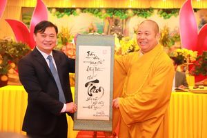 Bí thư Tỉnh ủy, Chủ tịch UBND tỉnh dự Lễ khai bút đầu xuân tại chùa Đại Tuệ