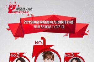 Nữ diễn viên quyền lực 2019: Dương Tử đánh bại Dương Mịch, Trịnh Sảng loại khỏi top 10, Lưu Diệc Phi không phải là 'minh tinh lưu lượng'