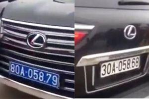 Xe sang Lexus đầu đeo biển xanh, đuôi đeo biển trắng