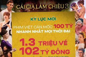 Gái già lắm chiêu 3 phá kỷ lục Cua lại vợ bầu - Mắt biếc, vượt 100 tỷ nhanh nhất lịch sử phim Việt
