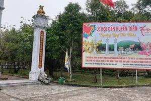 Huế dừng lễ hội đền Huyền Trân và các hội Xuân tập trung đông người