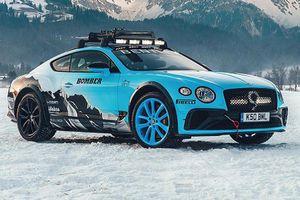Ngắm xe đua chạy trên băng - Bentley Ice Race Continental GT