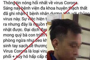 Phạt 12,5 triệu đồng thanh niên tung tin thất thiệt về dịch corona ở Hà Nội
