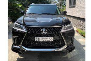 Cận cảnh Lexus LX570 tiền tỷ, biển 'ngũ quý 5' tại Sài Gòn